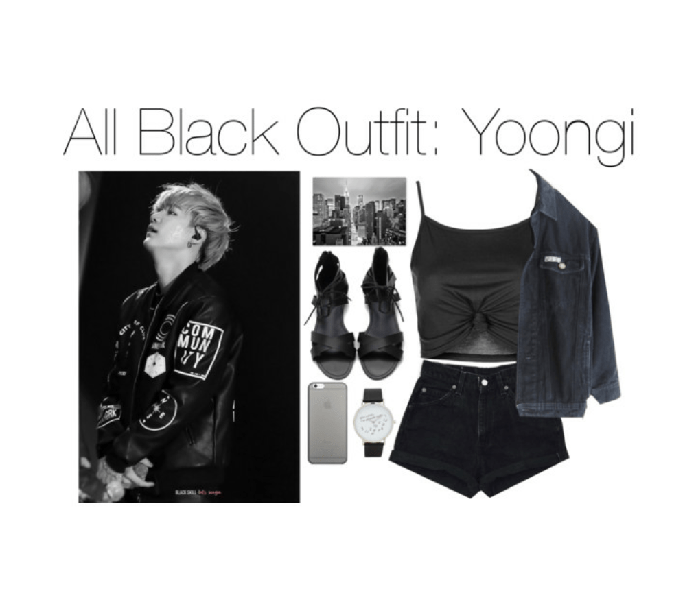 kpop outfits all black