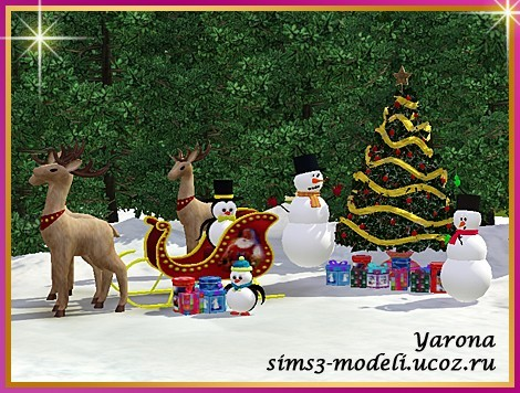 Thesimsm0dels Christmas Decor For The Sims 3 By Yarona 1 2