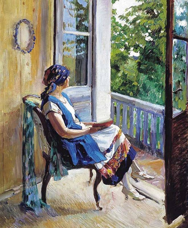 Summer Dreams (1915). Sergei Arsenevich Vinogradov (Russian, 1870-1938). Vinogradov studied at the Moscow School of Painting, Sculpture, and Architecture (1880-89) under E. S. Sorokin and V. D. Polenov. He was a member of the peredvizhniki (the...