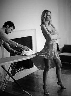 naked while ironing the mistress dress