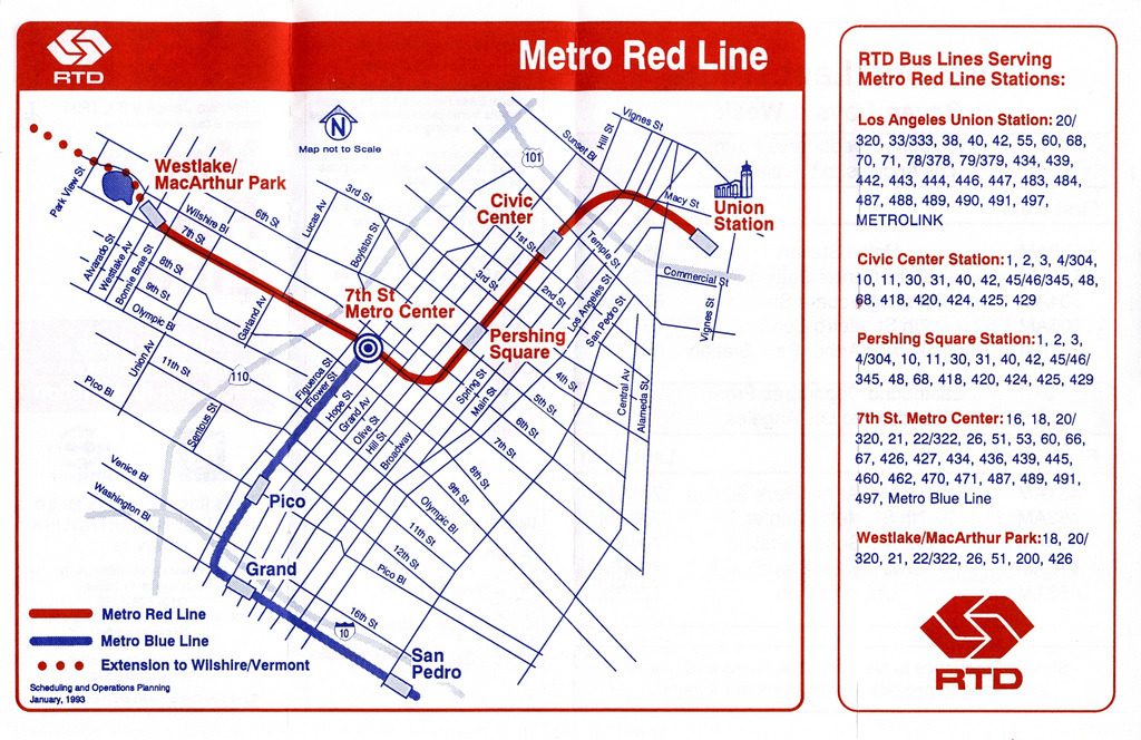 Redline Metro Map Los Angeles.Angeles Redline Metro Map Los