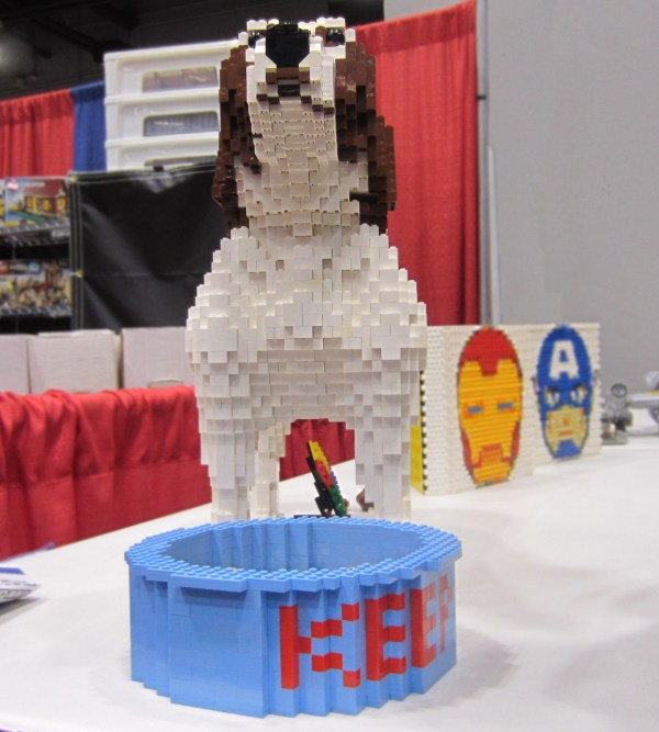 Legosaurus Lego Dog Sculpture Spotted Cincinnati
