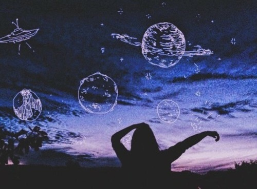 Hipster Wallpaper Iphone X Planet Drawing Tumblr