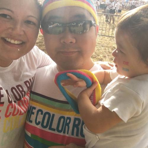 The before picture #onetouchofcolor #colorrun5k2015 (at Color Run Hawaii)