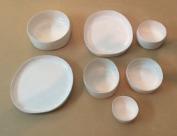 Various sizes of platters