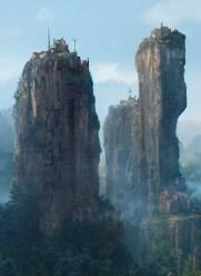 mountain village fantasy sergei concept artwork landscape