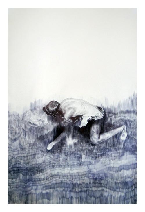 Adam, ball point pen on paper, 40 x 26 in.