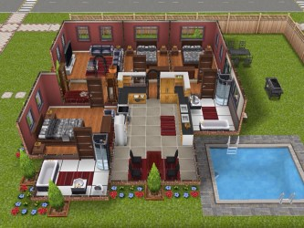 One Story Sims Freeplay House Templates