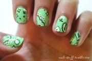 nail stuff. bandana nails