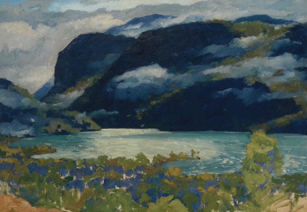 "terminusantequem:"" Jonas Lie (American/Norwegian, 1880-1940), A Norwegian Fjord, c.1910s-20s. Oil on canvas, 35 x 50 in."""