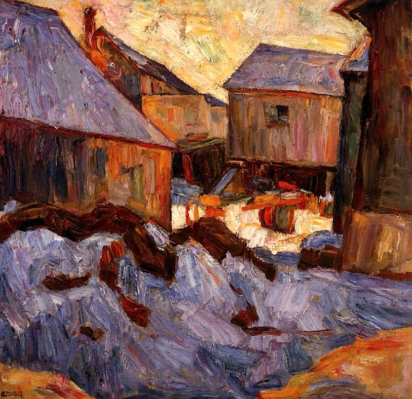 "bofransson: "" Shtetl, Snow Abraham A. Manievich - circa 1911 """