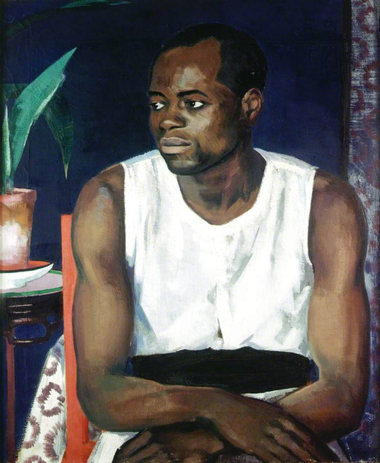 """somanyhumanbeings: """" Francis Campbell Boileau Cadell, Negro in White (c. 1978) """""""