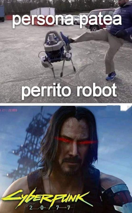 Nadie toca al perrete de Keanu Reeves del futuro
