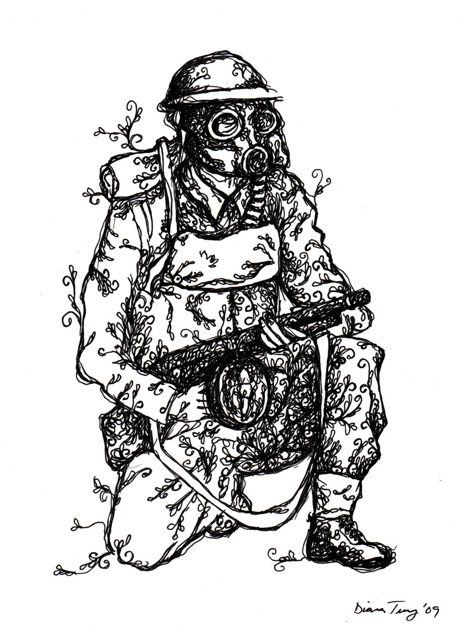 Diana Terry (Drawing I did today of a British soldier with
