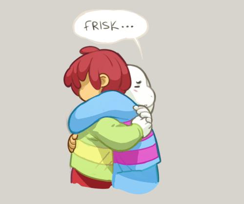 Asriel Hugging And Sans