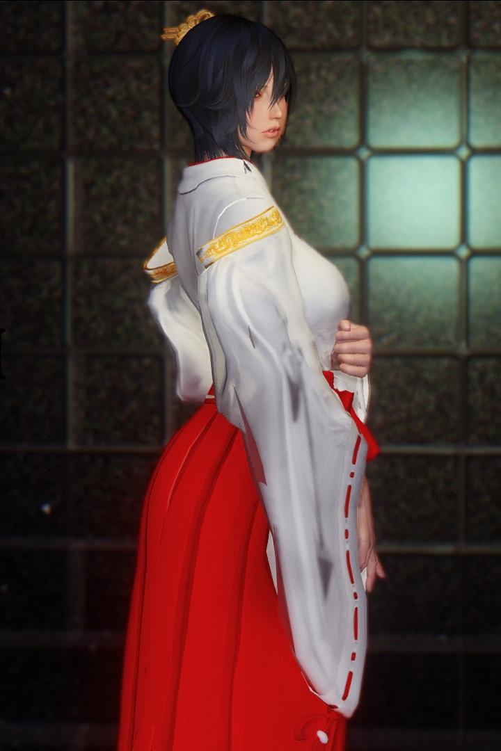 Momiji Miko Outfit ( ゚∀゚)o彡゜巫女服( ゚∀゚)o彡゜巫女服... - HARTMAN@SKYRIM