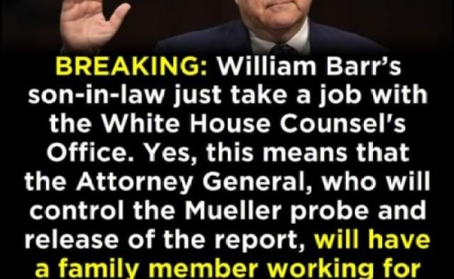 Corps R People William Barr S Son In Law Just Landed A