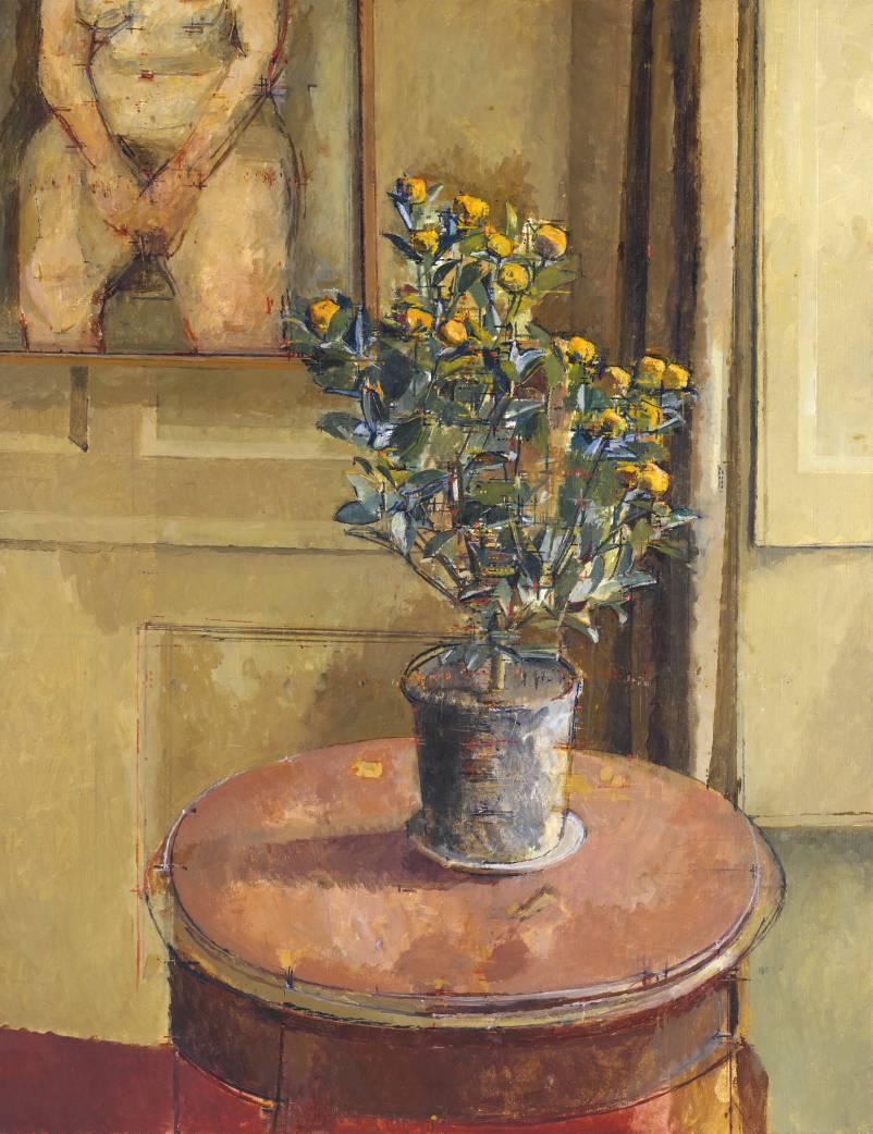 "huariqueje:""  Orange Tree - Sir William Coldstream 1974British 1908-1987Oil on canvas, 914 x 711 mm"""