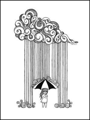rain doodle drop easy drawing drawings doodles simple draw pretty sketch creative cool idea epic raining mandala drawn