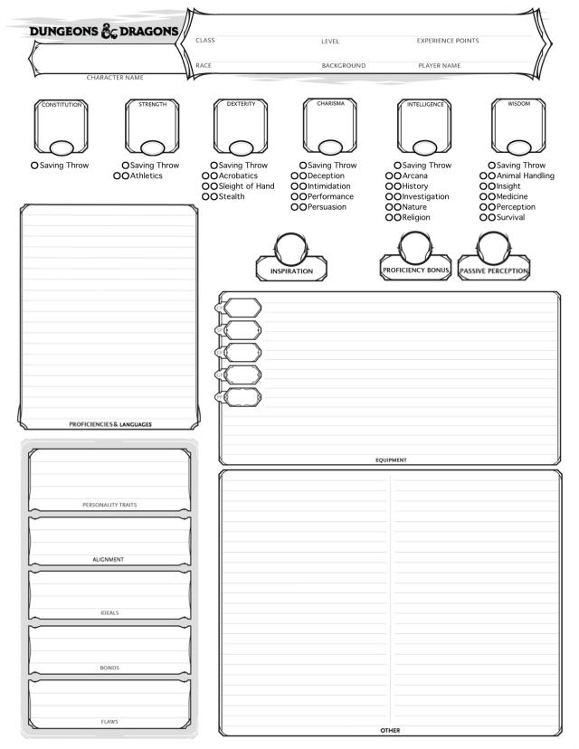 mercer's dnd blog — custom character sheet!