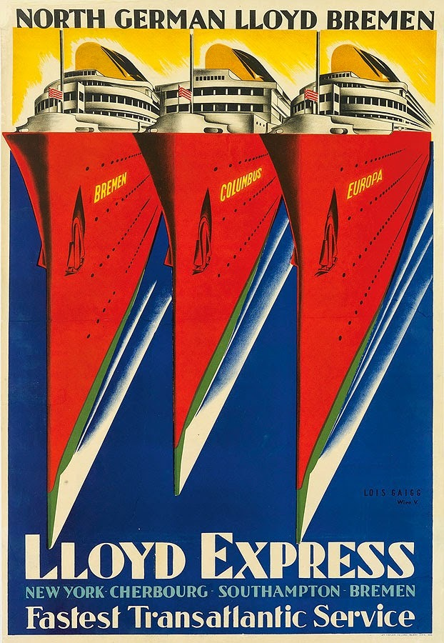 North German Lloyd (Norddeutscher Lloyd) Lloyd Express poster - 1929