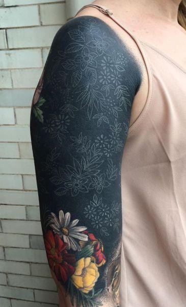 Female Blackout Tattoos