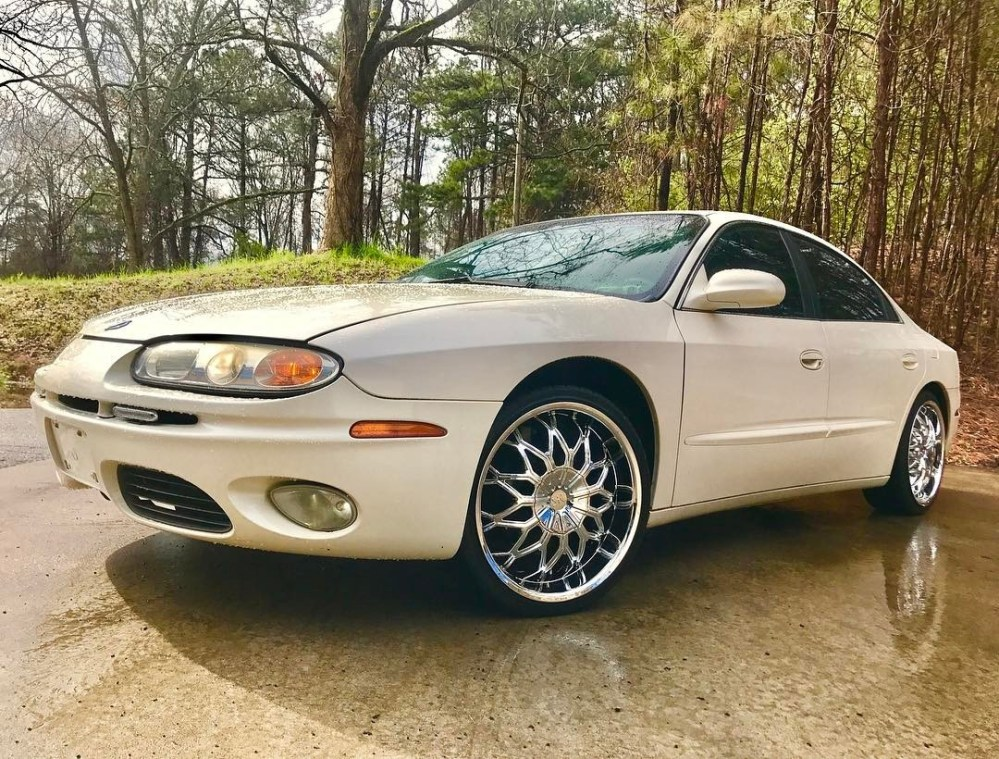 medium resolution of 02 oldsmobile aurora on 20 sik 005 chrome wheels wrapped in some 245 35