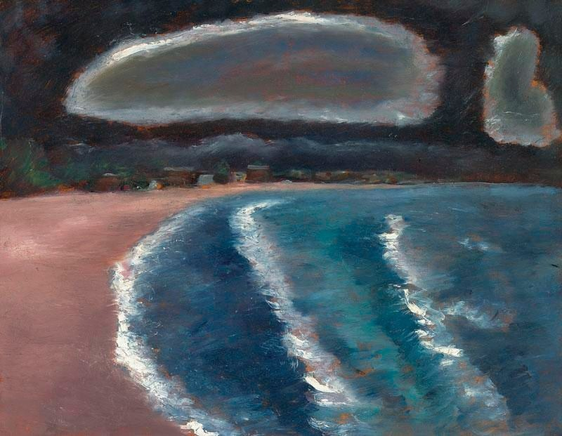 "thunderstruck9: "" Marsden Hartley (American, 1877–1943), Storm down Pine Point Way, Old Orchard Beach, 1941-43. Oil on masonite, 22 x 28 in. """