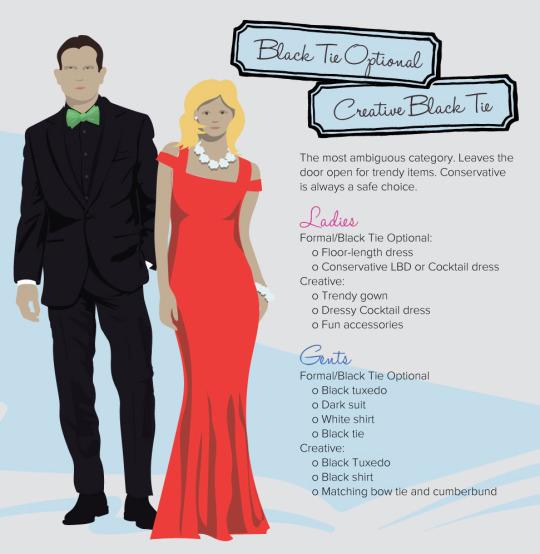 decoding dress code black tie optional creative