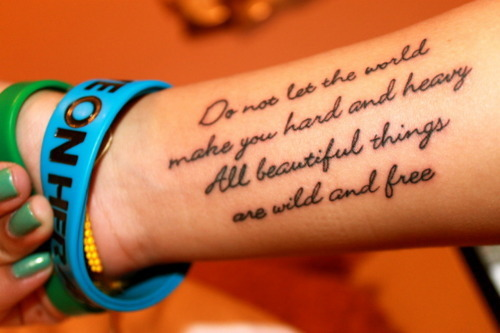 word tattoos