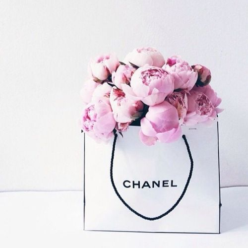 Peony Love Quote Wallpaper Chanel Peonies Bag Tumblr