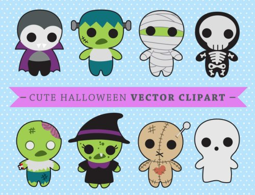 small resolution of premium vector clipart kawaii spooky halloween halloween monsters clipart high quality vectors
