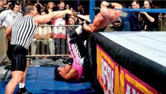 Image result for bret hart figure 4 around the post