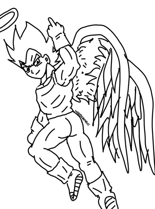 Goku Angel Vegeta Angel