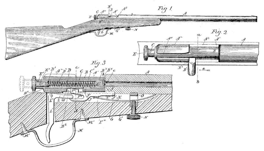 medium resolution of historical firearms cutaway of the day winchester model 1900 the