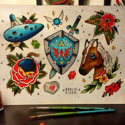 Ocarina Of Time Tattoo Tumblr
