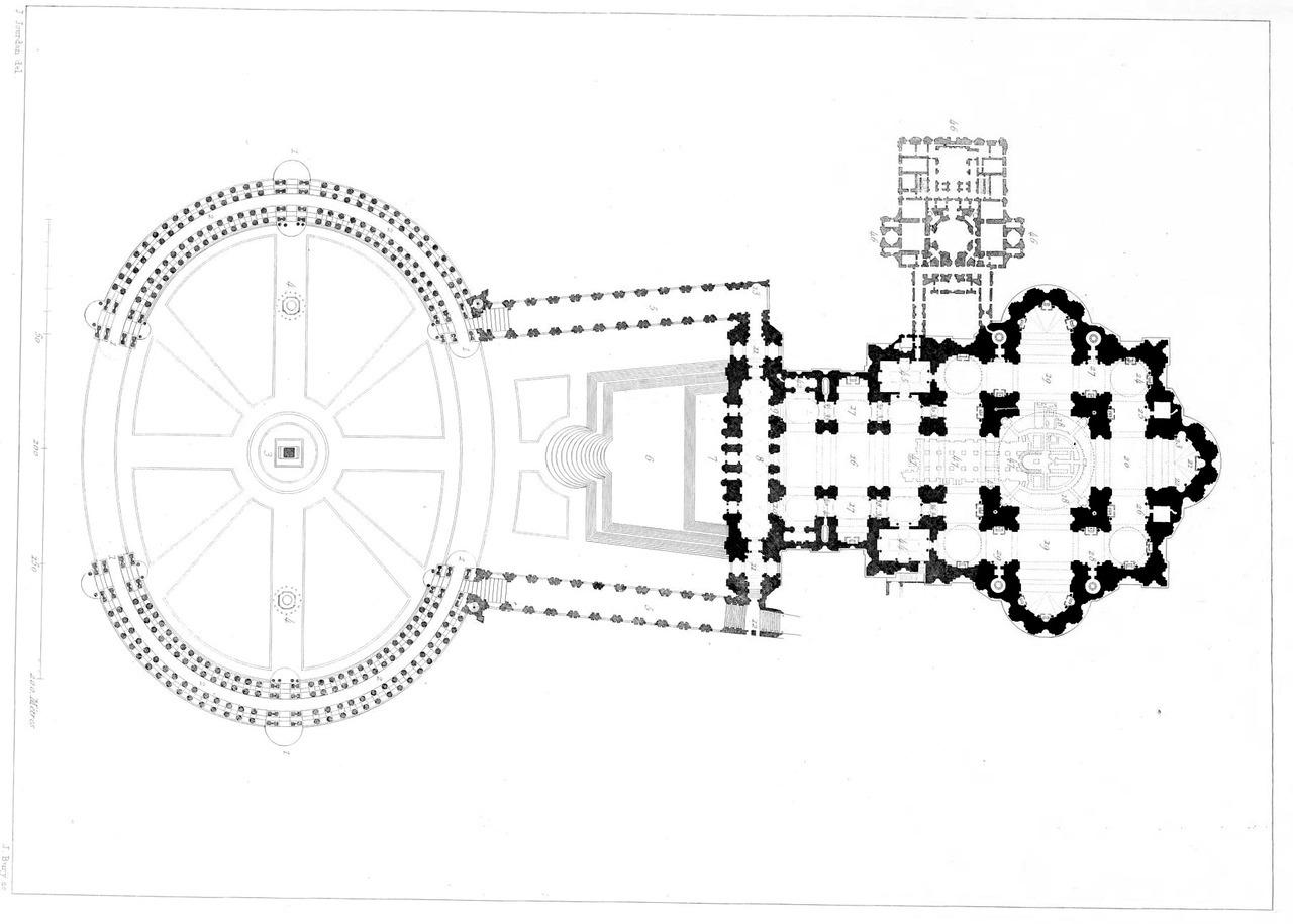 hight resolution of floor plan of saint peter s basilica