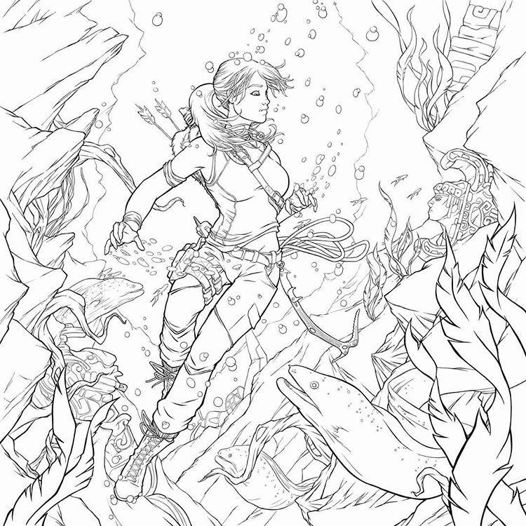 Official Tomb Raider Blog — 🎨 Tomb Raider Coloring Book