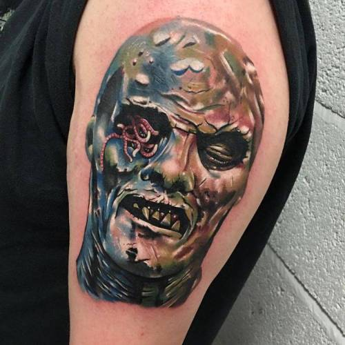 Tattoo Tagged With Horror Brown Danegrannon Grey Zombie Flesh