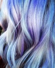 blue & purple hair