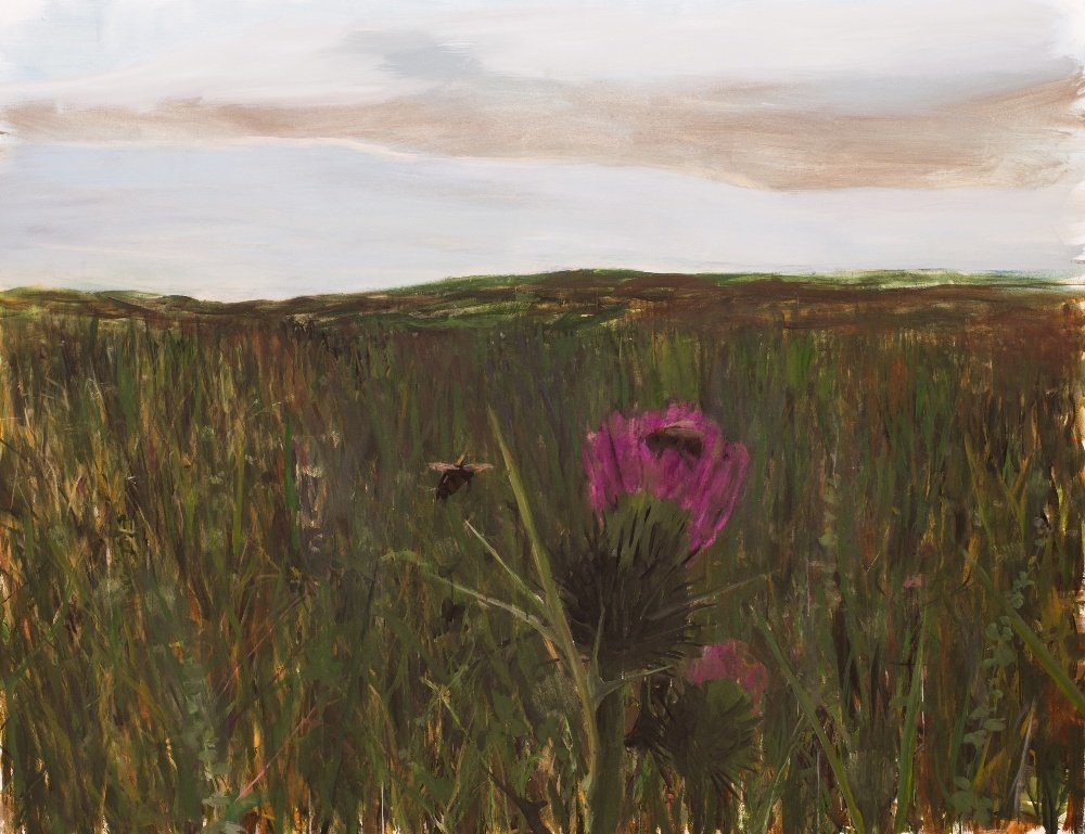 """thunderstruck9: """" Enrique Martínez Celaya (Cuban, b. 1964), The Field with Thistle, 2011. Oil on canvas, 60.5 x 68 in. """""""