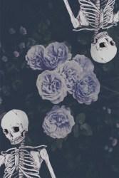 goth pastel aesthetic skeleton grunge spooky alternative roses favim orchid fiery