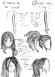 dreadlocks drawing