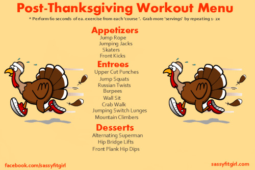 Image result for after thanksgiving workout