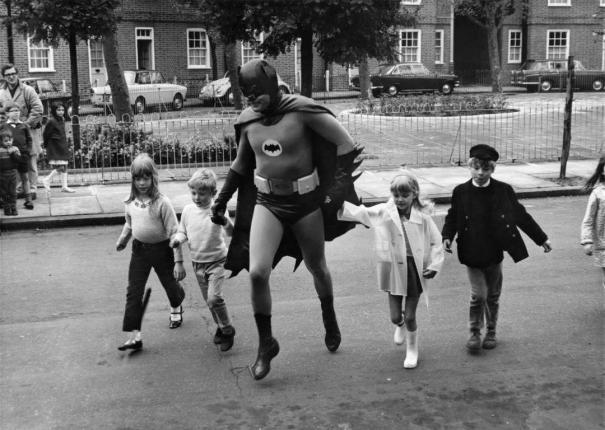 Adam West As Batman Filming A Road Safety Film History