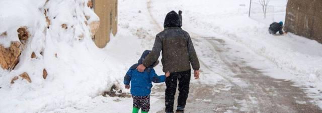 30 000 refugiados sirios afectados por la tormenta de nieve «Karim» en Líbano