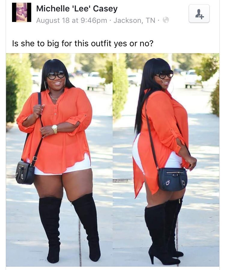 """roamingblizzard: """" black-charm: """" badgalchubby: """" phoenixambition: """" liffe-fucksyouovertwice: """" chrissongzzz: """" If it comes in her size how the fuck is she too big for it.? """" This^^^^^ """" It's that simple. """" Exactly!! """" Ok she looks bomb af tho """" If..."""
