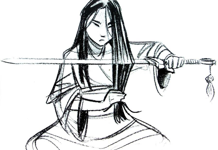 The Concept Art Library — Disney's Mulan- Mulan In