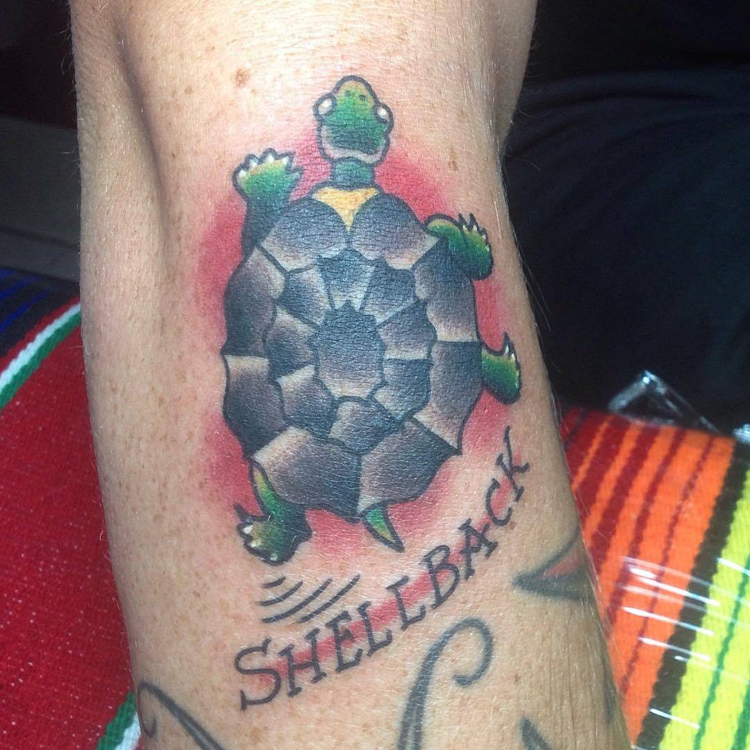 Traditional Shellback Tattoo