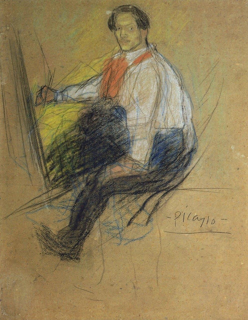 Pablo Picasso - Esquisse pour Autoportrait 'Yo, Picasso' - 1901